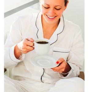 everlane womens pajamas white bottom only